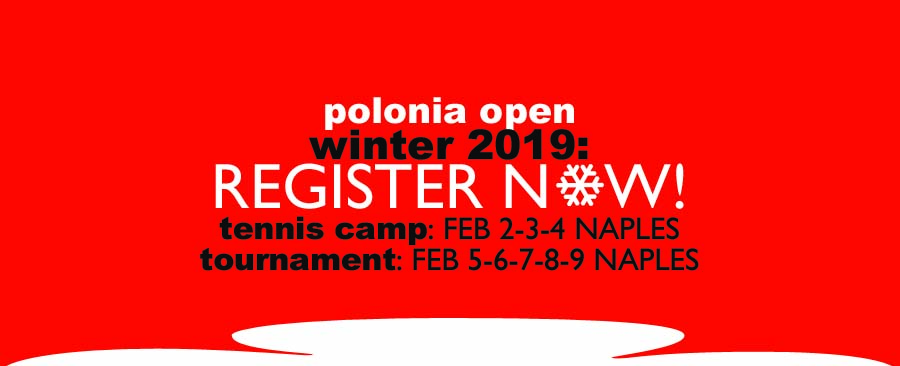 Polonia Open Amateur Tennis Tournament in Naples Florida Feb 2019
